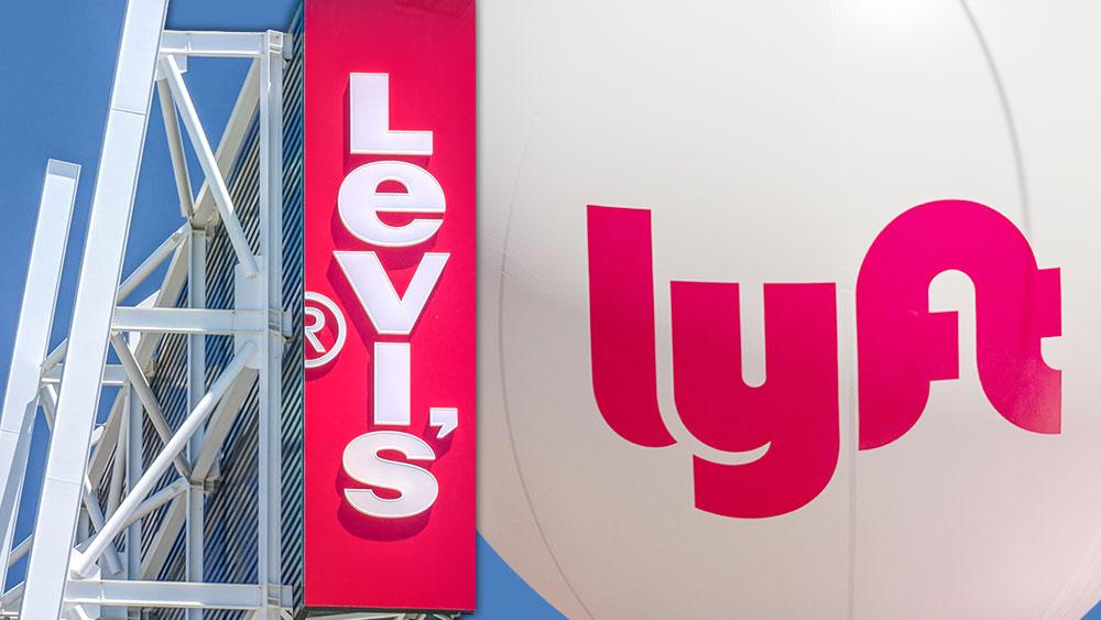 Колаж от логата на компаниите Levi's и Lyft