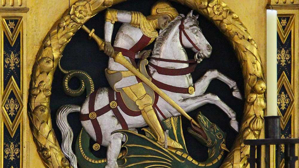 Икона на св. Георги и митичния змей