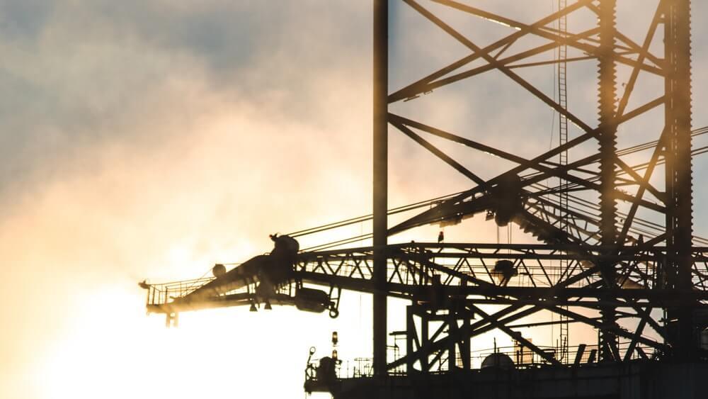 Снимка на нефтена платформа