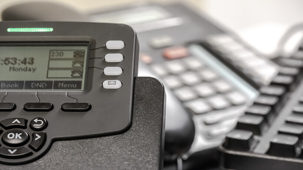 Picture of Cisco VOIP business telephone