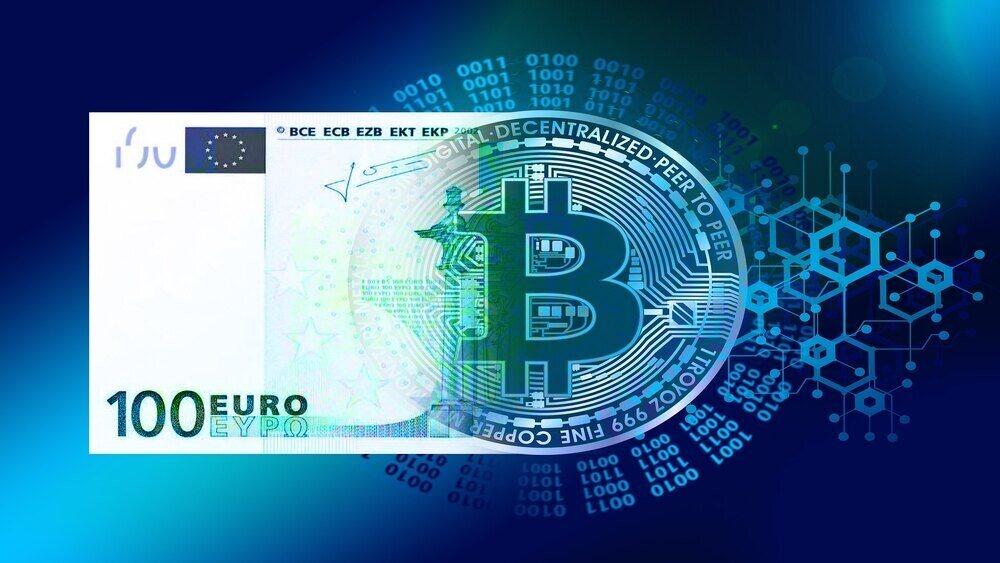 Графично изображение на дигитализацията на банкнота от 100 евро