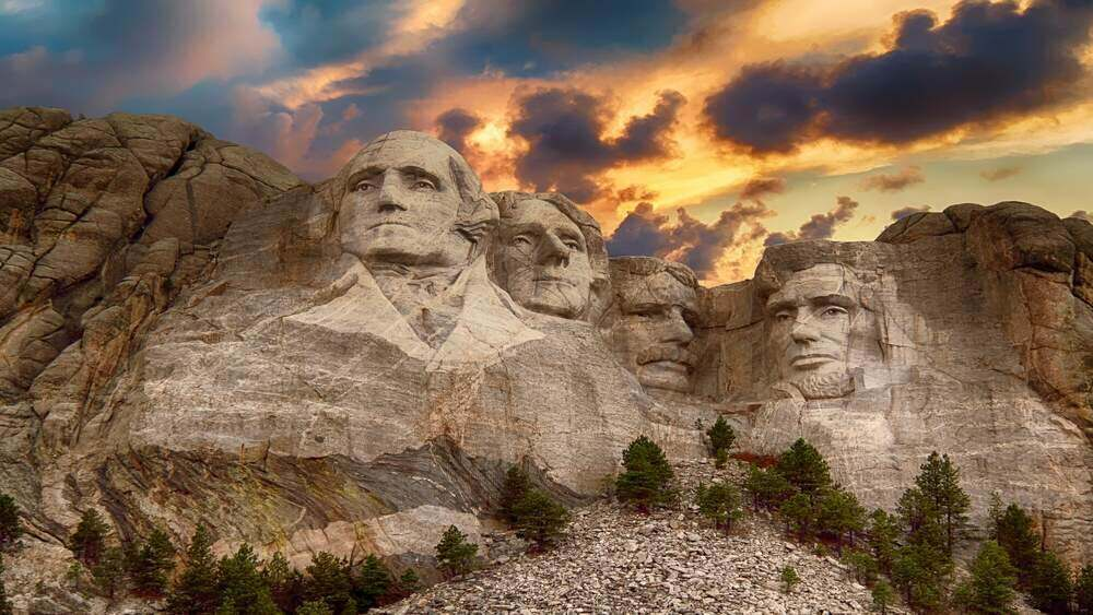 Picture of Mount Rushmore in the U.S.
