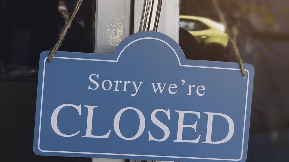 """Табела """"Съжаляваме, затворени сме"""""""